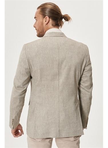 Altınyıldız Classics Regular Fit Bol Kesim Desenli Ceket 4A0421200001 Vizon